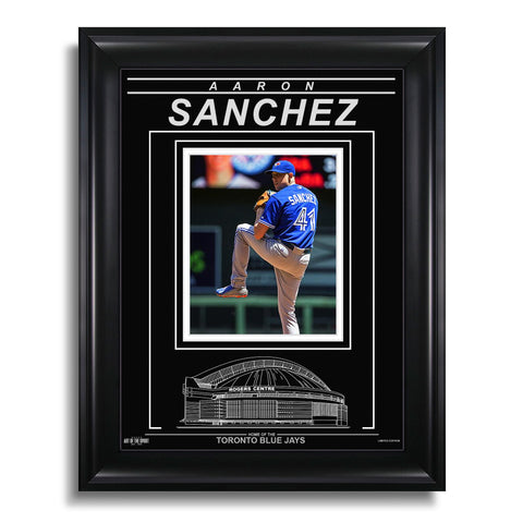 Aaron Sanchez Toronto Blue Jays Engraved Framed Photo - Action V