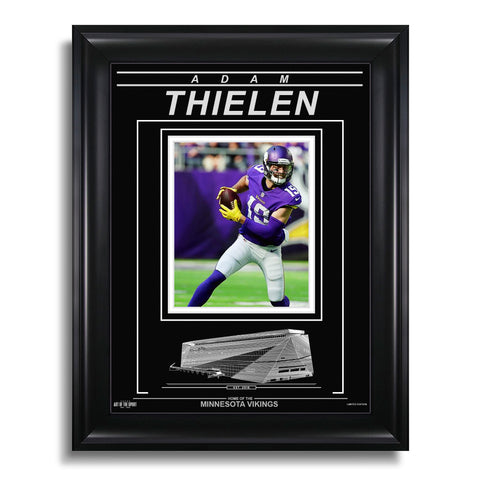 Adam Thielen Minnesota Vikings Engraved Framed Photo - Action