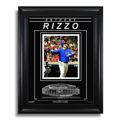 Anthony Rizzo Chicago Cubs Engraved Framed Photo - Home Run