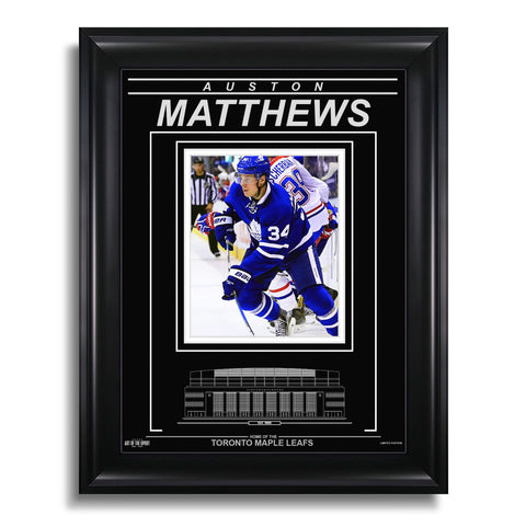Auston Matthews Toronto Maple Leafs Engraved Framed Photo - Action Flex