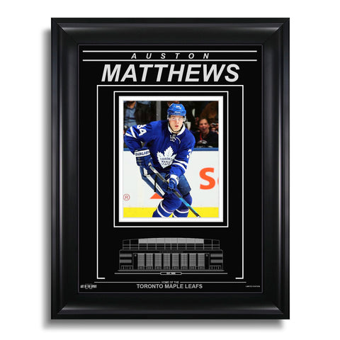 Auston Matthews Toronto Maple Leafs Engraved Framed Photo - Action Forward