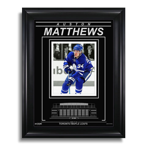 Auston Matthews Toronto Maple Leafs Engraved Framed Photo - Action Spotlight
