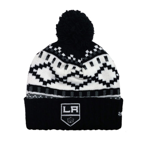 Los Angeles Kings Cuffed Pom Toque