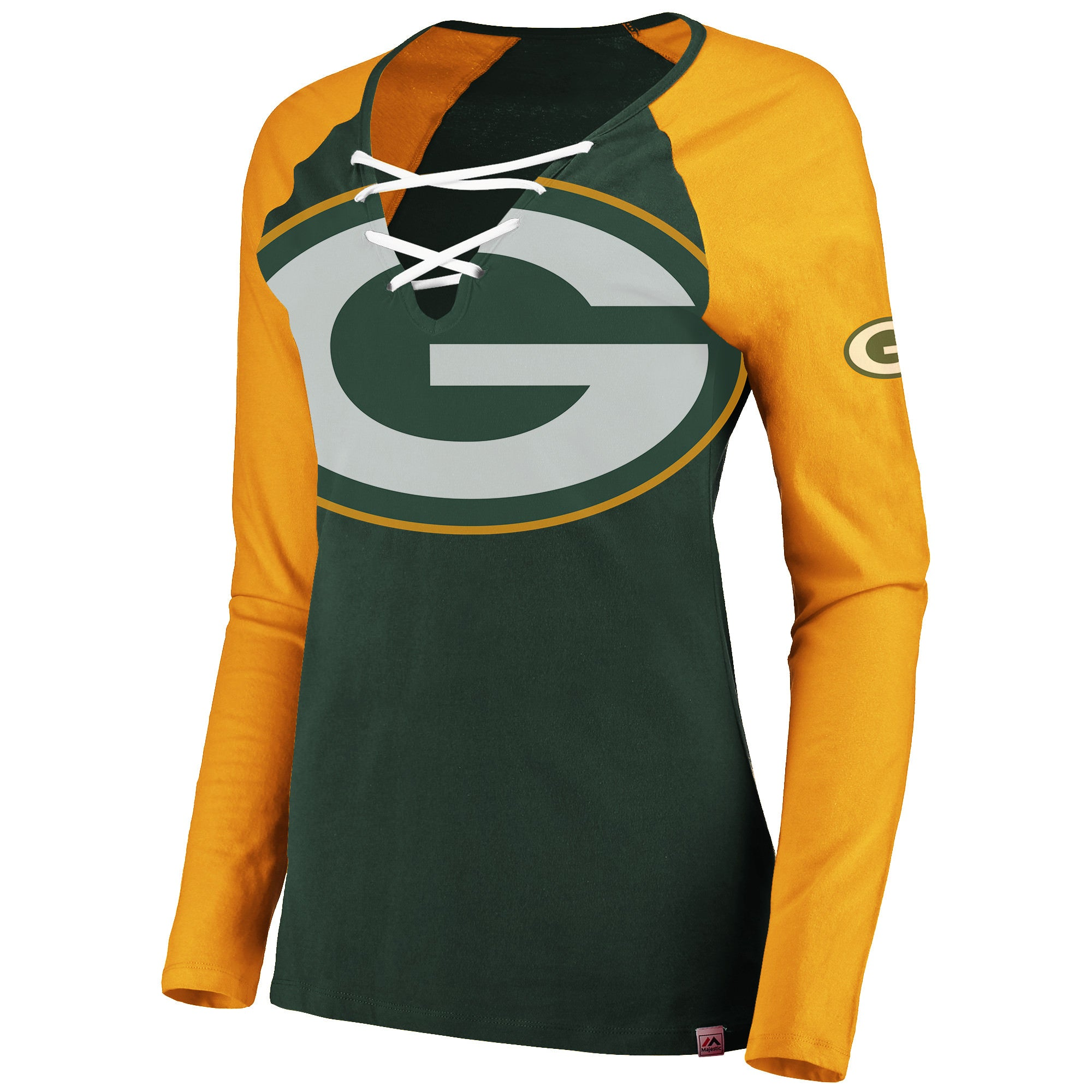 more photos a87d1 b8f32 Ladies' Green Bay Packers NFL Lace-Up Long Sleeve