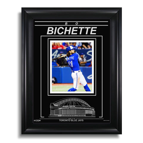 Bo Bichette Toronto Blue Jays Engraved Framed Photo - Action