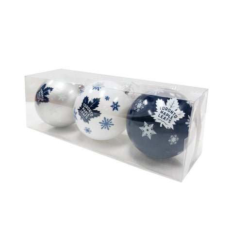 Toronto Maple Leafs NHL 3-Pack Shatterproof Ornaments