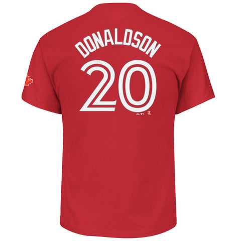 Toronto Blue Jays Josh Donaldson Red Player T-Shirt