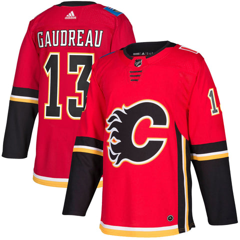 Calgary Flames Johnny Gaudreau NHL Authentic Pro Home Jersey