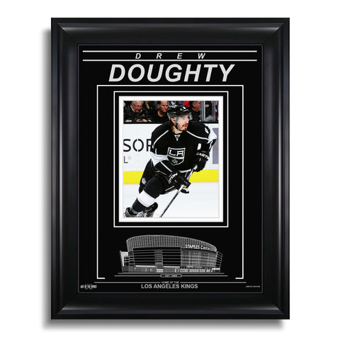 Drew Doughty Los Angeles Kings Engraved Framed Photo - Focus