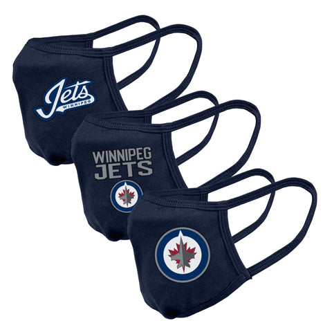 Men's Winnipeg Jets NHL 3-pack Team Logo Face Masks