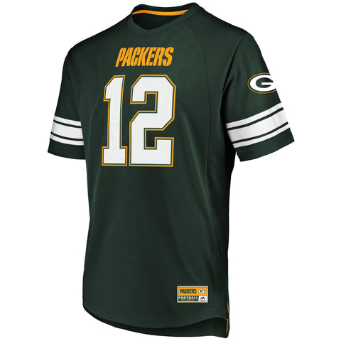 Aaron Rodgers Green Bay Packers NFL Player Name and Number Hashmark Jersey Tee