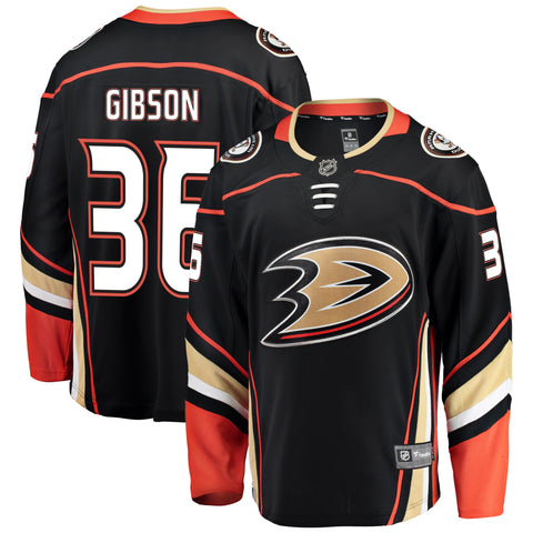 John Gibson Anaheim Ducks NHL Fanatics Breakaway Home Jersey