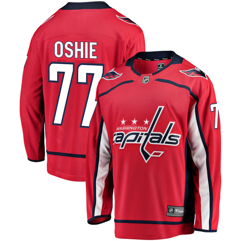 T.J. Oshie Washington Capitals NHL Fanatics Breakaway Home Jersey