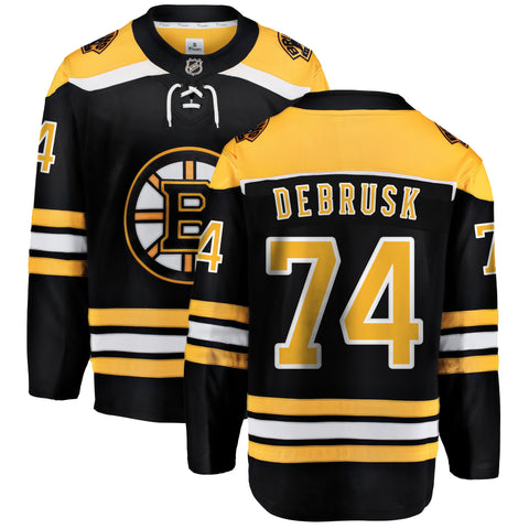 Jake DeBrusk Boston Bruins NHL Fanatics Breakaway Home Jersey