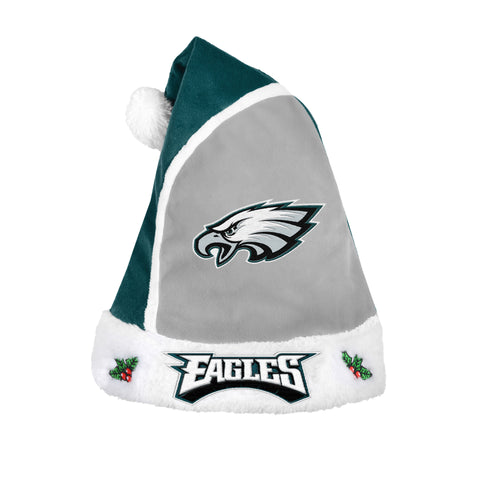 Philadelphia Eagles NFL White Line Plush Santa Hat