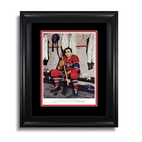 For the Love of the Game – Maurice Richard Montreal Canadiens 8 x 10 Legends Series Print