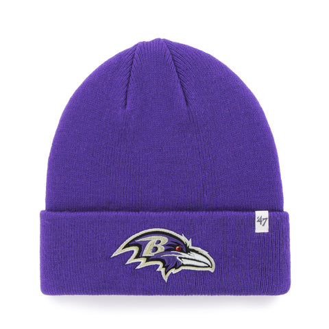 Baltimore Ravens NFL Raised Cuffed Knit Beanie