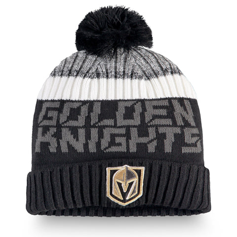 Youth Vegas Golden Knights NHL Authentic Pro Rinkside Cuffed Knit Pom Pom Toque