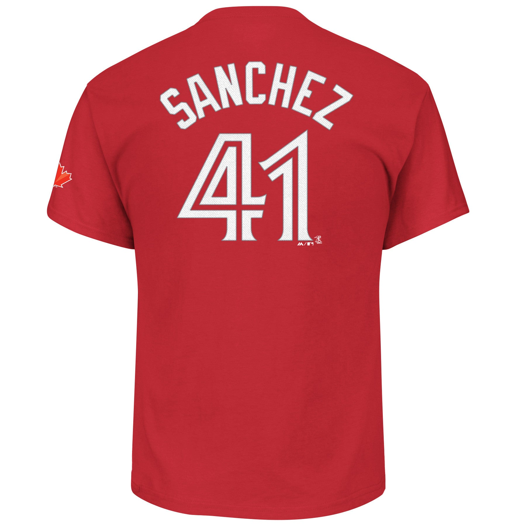 the latest 0703c 27494 Toronto Blue Jays Aaron Sanchez Red Player T-Shirt