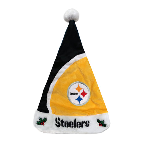 Pittsburgh Steelers Colorblock Santa Hat