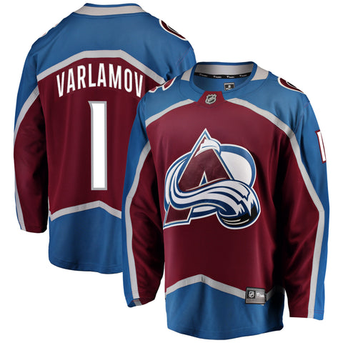 Semyon Varlamov Colorado Avalanche NHL Fanatics Breakaway Home Jersey
