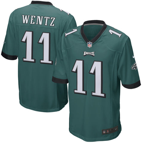 Youth Carson Wentz Philadelphia Eagles Nike Game Team Jersey