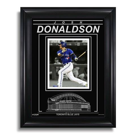 Josh Donaldson Toronto Blue Jays Engraved Framed Photo - Spotlight Horizontal