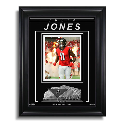 Julio Jones Atlanta Falcons Engraved Framed Photo - Action