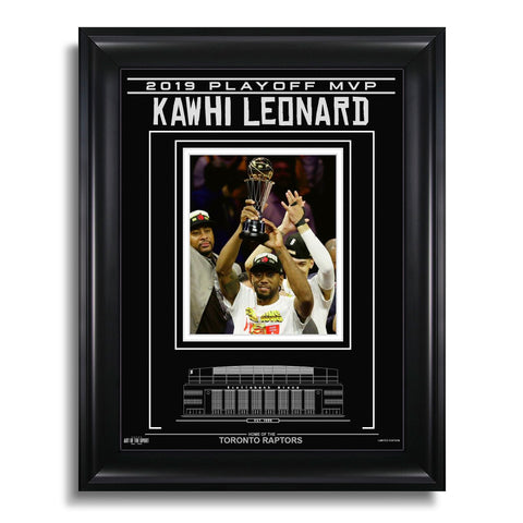 Kawhi Leonard Toronto Raptors Engraved Framed Photo - 2019 Playoff MVP