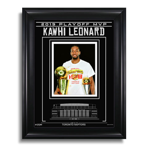 Kawhi Leonard Toronto Raptors Engraved Framed Photo - 2019 Playoff MVP Spotlight