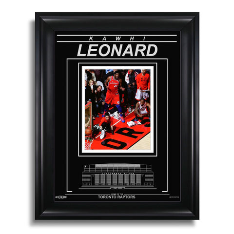 Kawhi Leonard Toronto Raptors Engraved Framed Photo - A Moment In Time