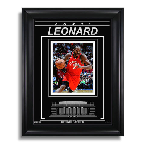 Kawhi Leonard Toronto Raptors Engraved Framed Photo - Action