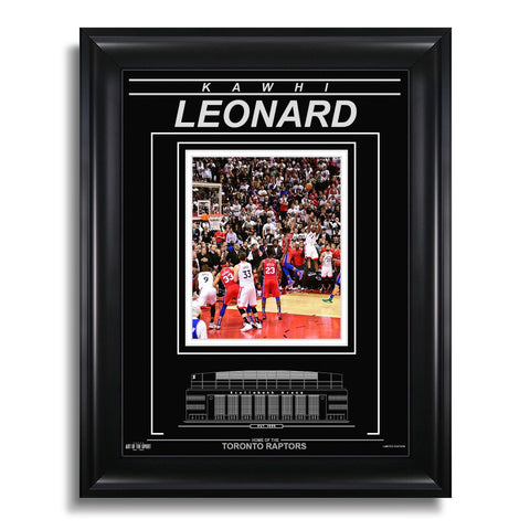 Kawhi Leonard Toronto Raptors Engraved Framed Photo - Game 7 Buzzer Beater