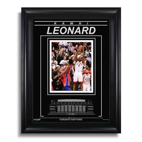 Kawhi Leonard Toronto Raptors Engraved Framed Photo - Game 7 Closeup