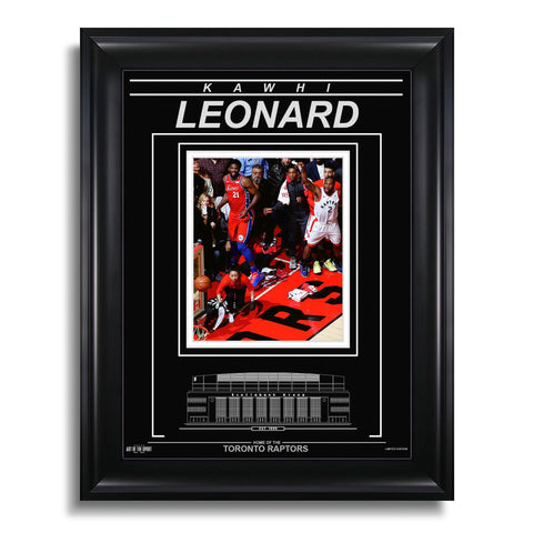Kawhi Leonard Toronto Raptors Engraved Framed Photo - Game 7 Winner