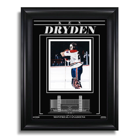 Ken Dryden Montreal Canadiens Engraved Framed Photo - Standing Tall