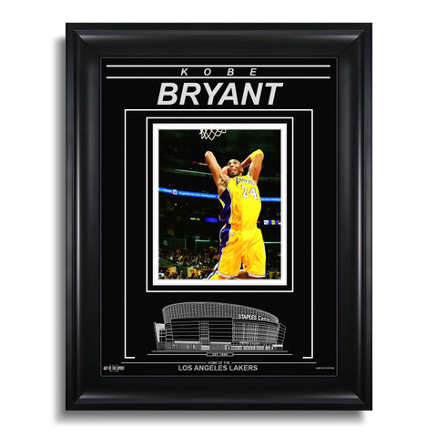 Kobe Bryant Los Angeles Lakers Engraved Framed Photo - Action Dunk