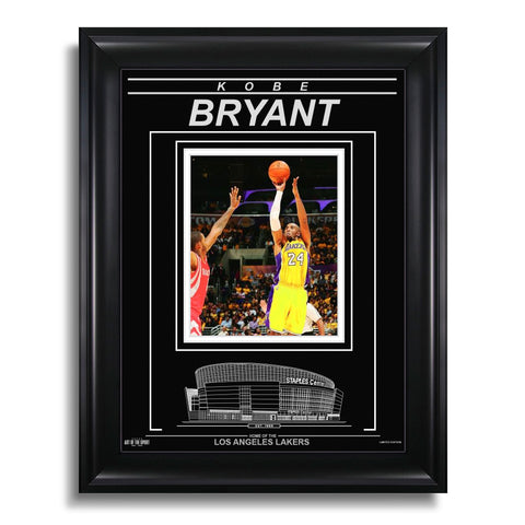 Kobe Bryant Los Angeles Lakers Engraved Framed Photo - Action