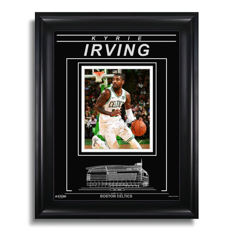 Kyrie Irving Boston Celtics Engraved Framed Photo - Action