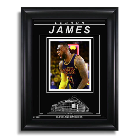 LeBron James Cleveland Cavaliers Engraved Framed Photo - Closeup
