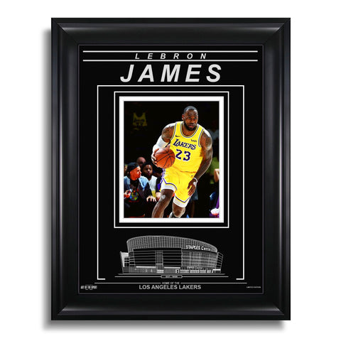 LeBron James Los Angeles Lakers Engraved Framed Photo - Action