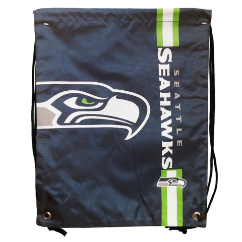 Seattle Seahawks Big Logo Drawstring Bag