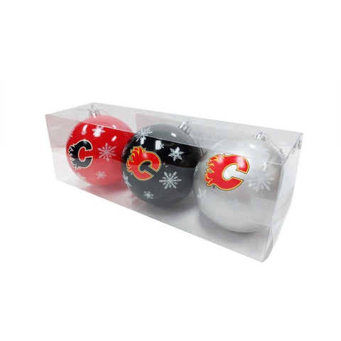 Calgary Flames NHL 3-Pack Shatterproof Ornaments