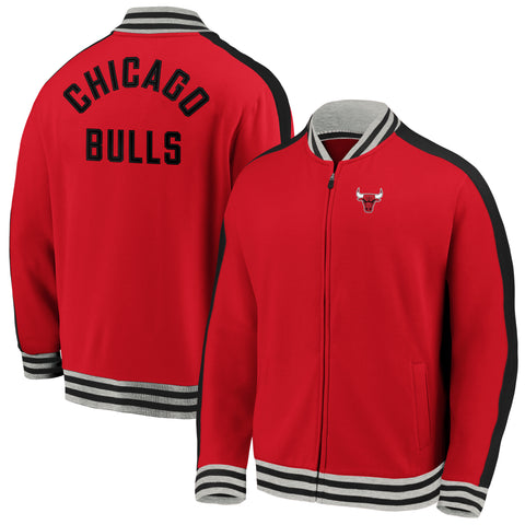 Chicago Bulls NBA Vintage Varsity Super Soft Full Zip