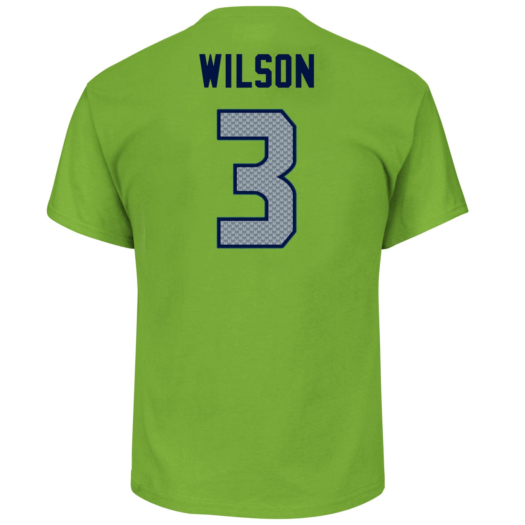 819cfd79 Seattle Seahawks Russell Wilson #3 Bright Green Eligible Receiver T-Shirt