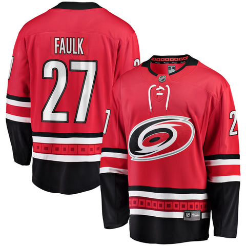 Justin Faulk Carolina Hurricanes NHL Fanatics Breakaway Home Jersey