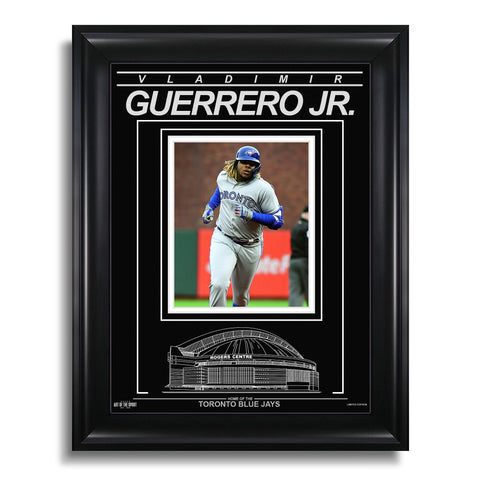 Vladimir Guerrero Jr. Toronto Blue Jays Engraved Framed Photo - 1st Career Home Run