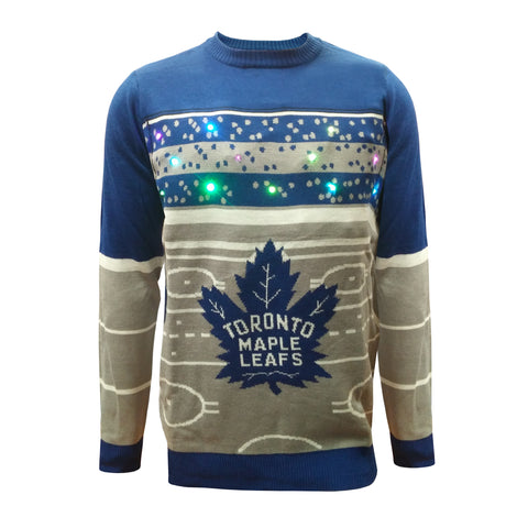 Toronto Maple Leafs Hockey Rink Light Up Sweater
