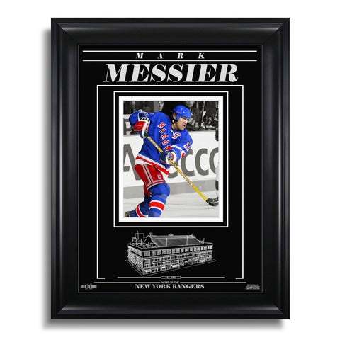 Mark Messier New York Rangers Engraved Framed Photo - Action