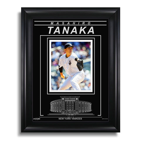 Masahiro Tanaka New York Yankees Engraved Framed Photo - Focus